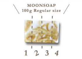 MOONSOAP 100g Regular size